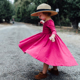 High-Low Dress in Magenta