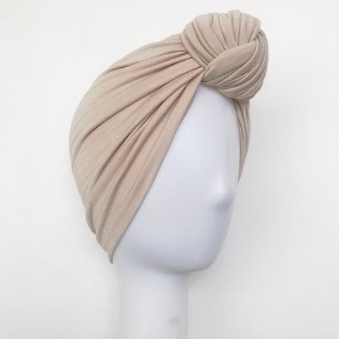 GLAM Knot Turban- Cream