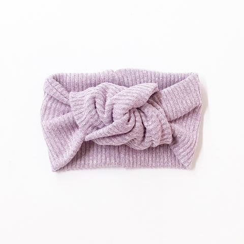 Classic Turban- Marled Lavender