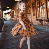 Classic High-Low Twirl Dress: Marigold Floral