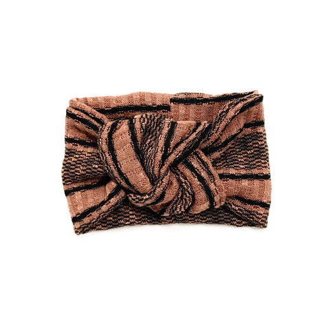 Classic Turban- Terracotta Stripe