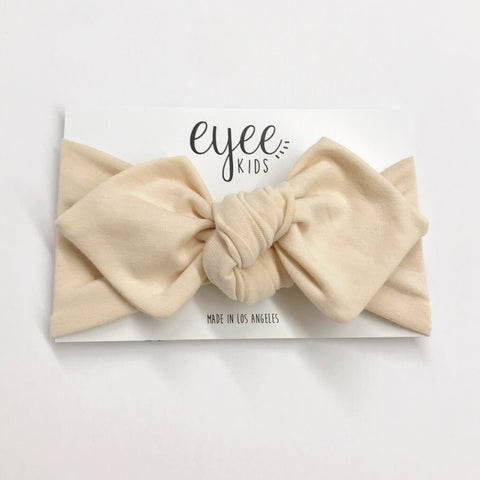 Top Knot Headband- Vanilla