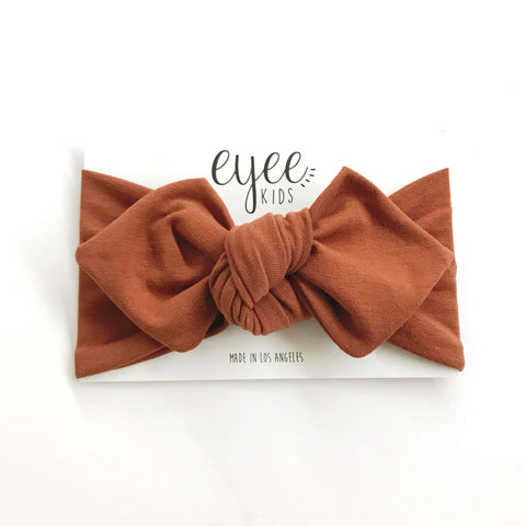Top Knot Headband- Cocoa