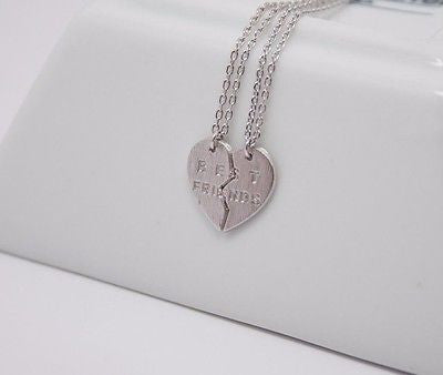 Cute and Chic Matte Gold Rose Gold Silver Necklace Made in Korea - Best Friends