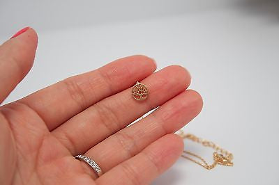 Cute and Chic Matte Gold Rose Gold Silver Necklace Made in Korea - Small Tree