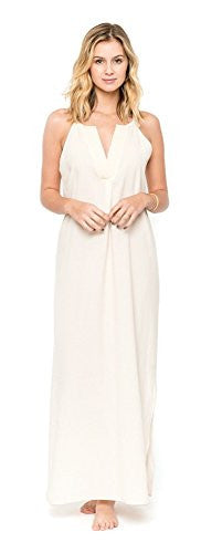 Califul Maxi Spaghetti Strap V-Neck Dress (Small)