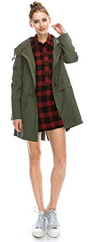 Anorak Lightweight Utility Army Military Jacket Parka Drawstring, Longlined Extra Lightweight