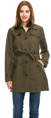 Women Trench Coat Single / Double Breasted, Belted, Long / Short Jacket Anorak