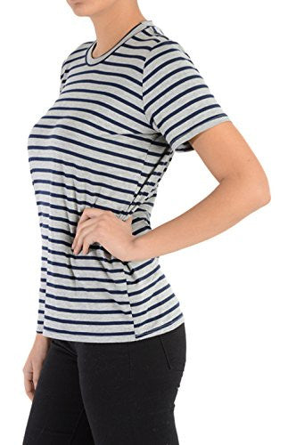 Califul Modern Striped Tee Crewneck Short Sleeve Nautical