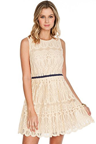 Califul Sleeveless Lace Dress