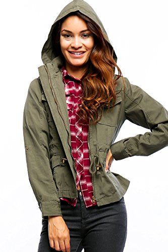 Anorak Lightweight Utility Army Military Jacket Parka Drawstring