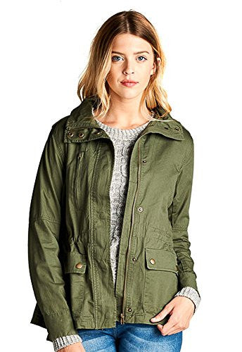 Anorak Lightweight Utility Army Military Jacket Parka Drawstring No Hood