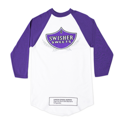 Swisher Sweets White and Purple Classic 3/4 sleeve