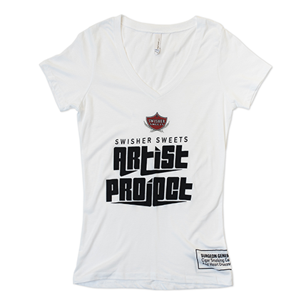 White Artist Project V-Neck