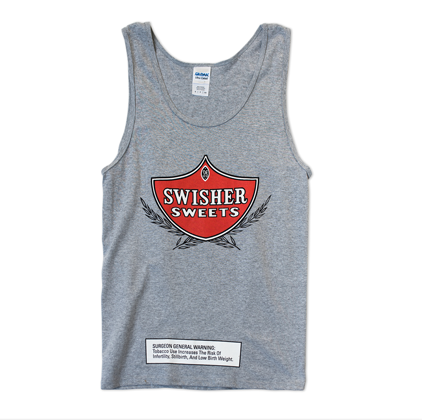 Gray Tank with Red logo