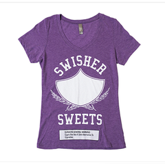 Purple Women's V-Neck