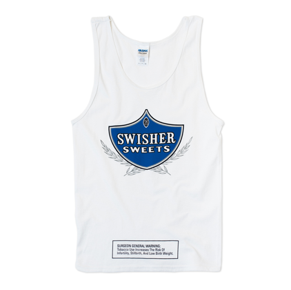 White Tank with Blue logo