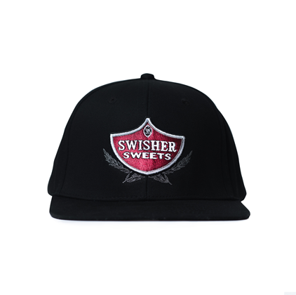 Black Swisher Sweets Shield Snapback