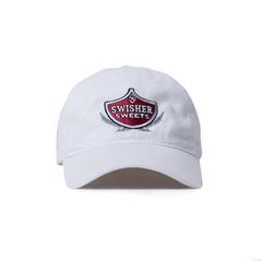 White Swisher Sweets Shield Dad Hat