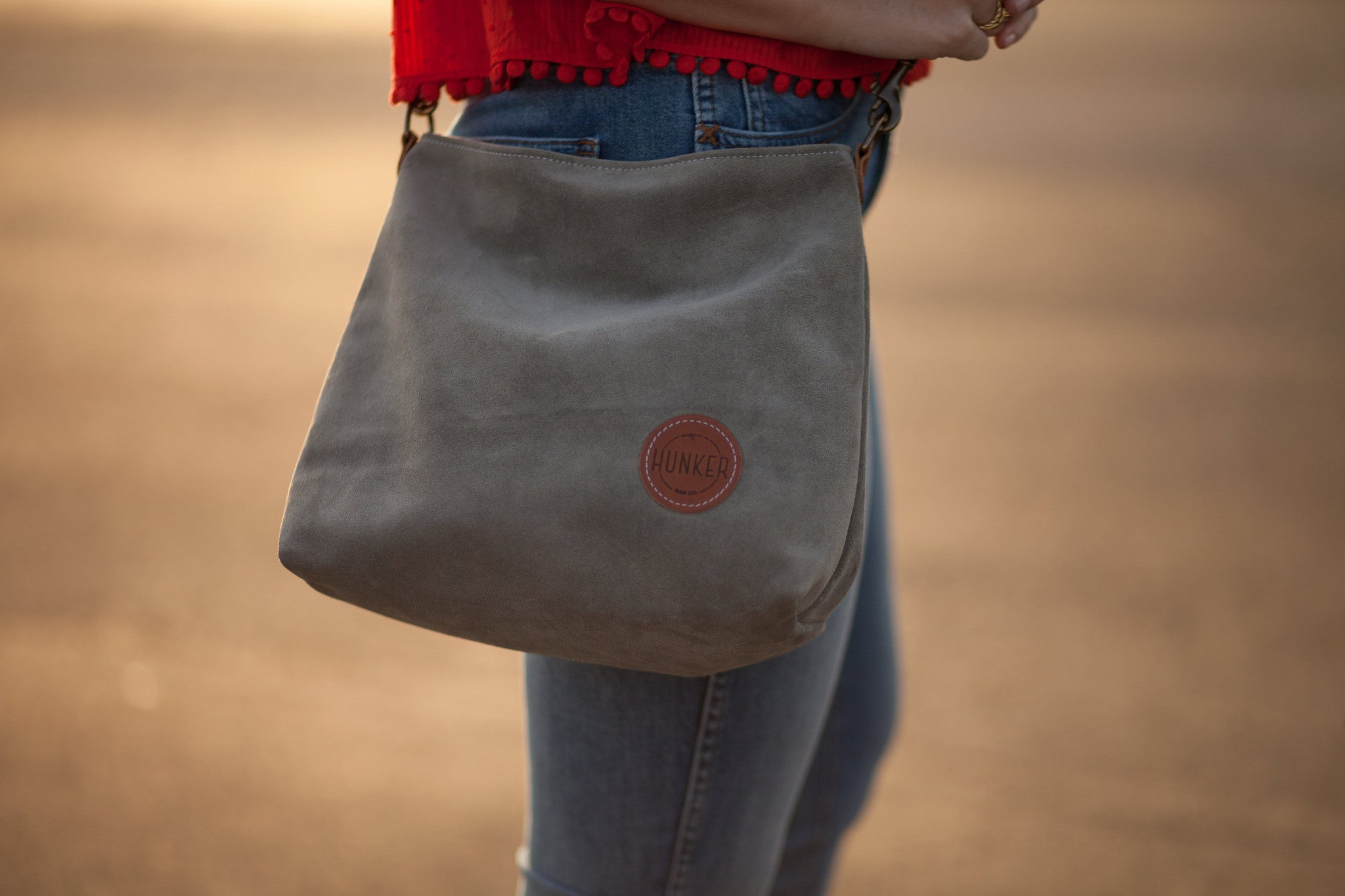 Hunker Bag Co: suede leather tote, hobo, crossbody bag