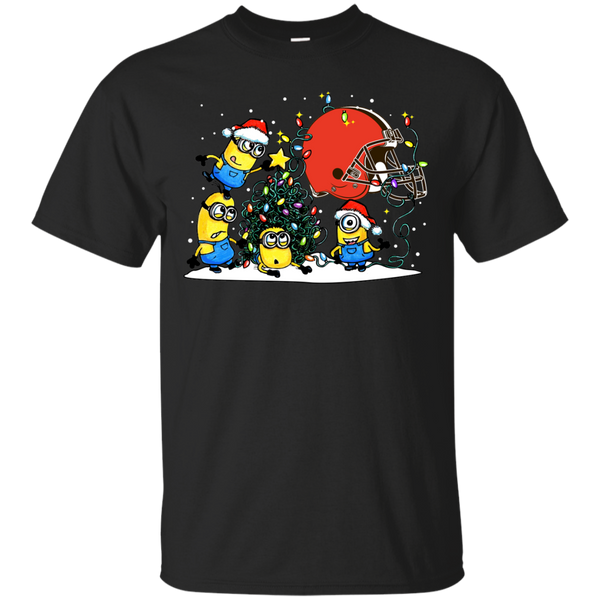 Cleveland Browns Minions Shirts Merry Christmas Cleveland Browns T-Shirts Hoodies Sweatshirts