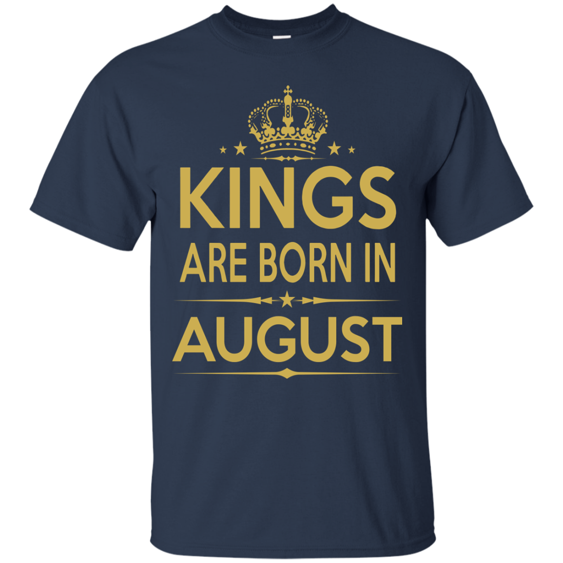 Kings Are Born In August  Birthday T Shirts Hoodies - Blue Fox