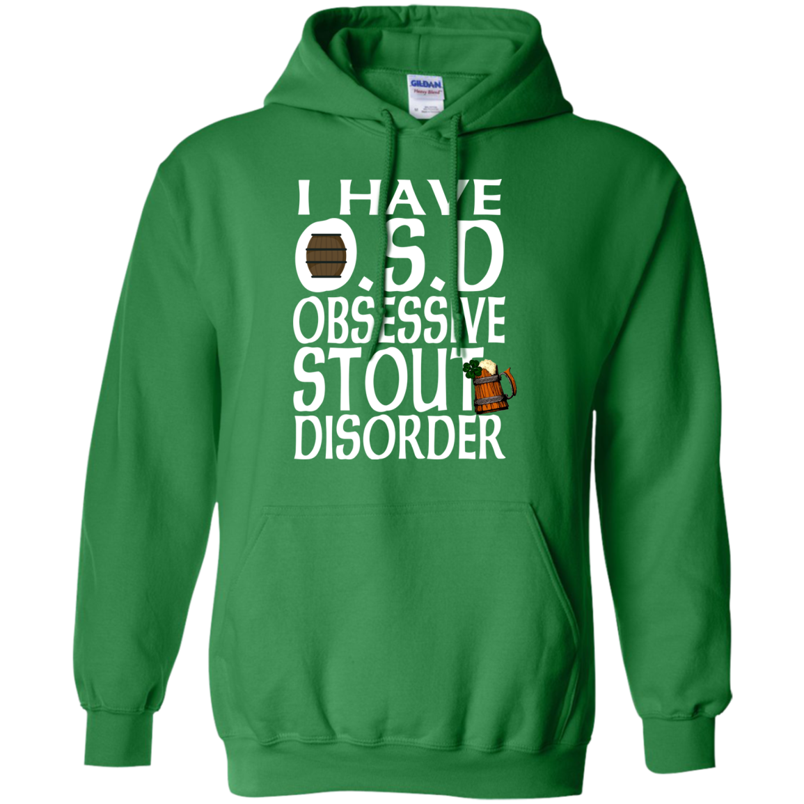 Irish Stout Irish Beer Obsessive Disorder St Patricks Day Clothing St Patrick's Day Shirts Hoodies For Women And Men - Blue Fox