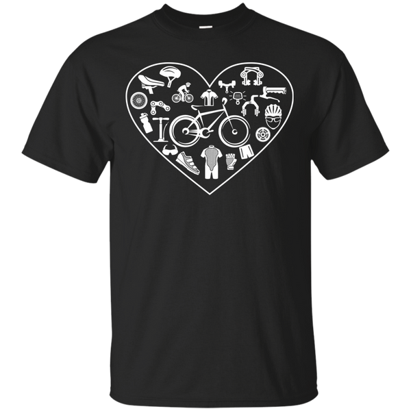 Cycling T-Shirts Hoodies Clycling Heart - Blue Fox