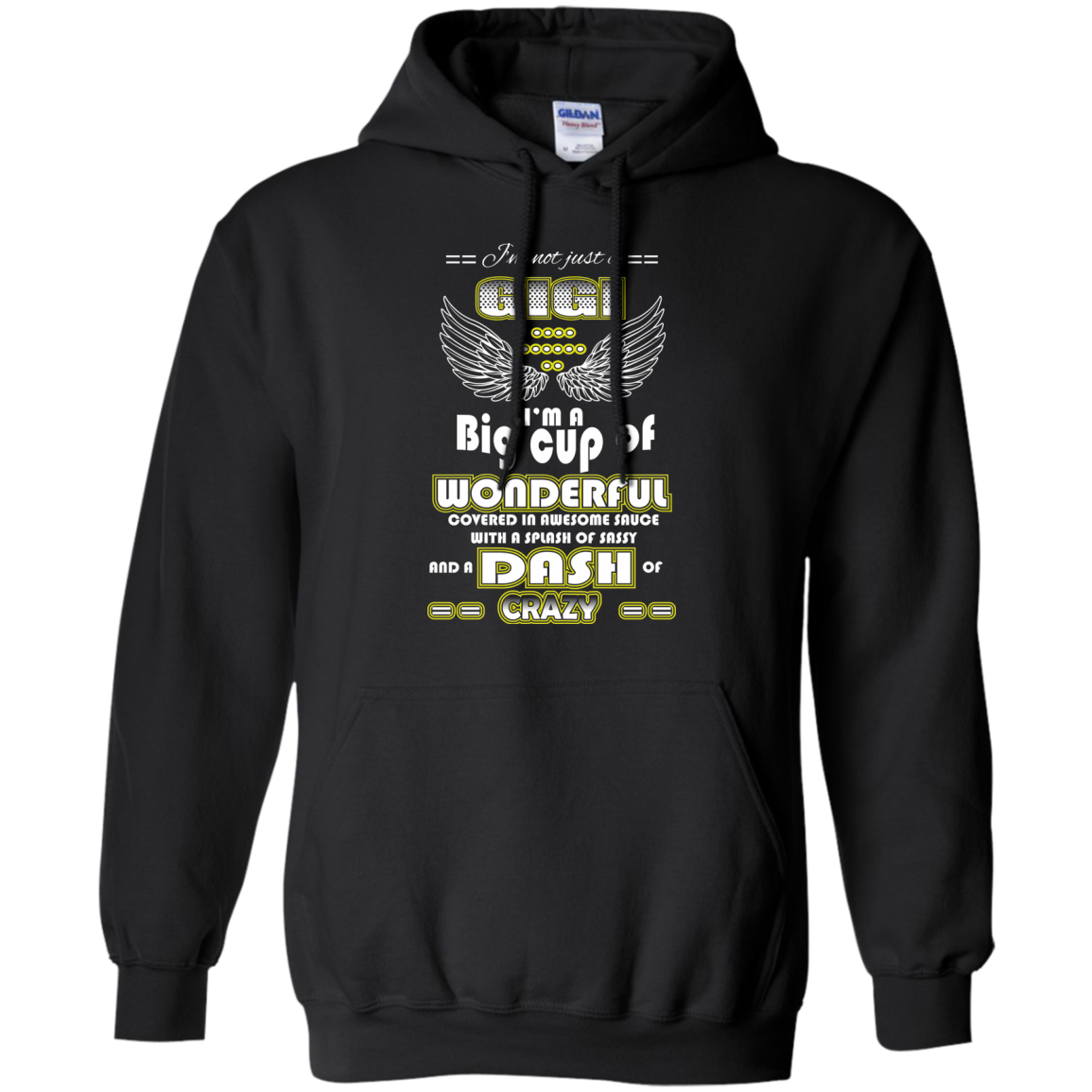 Family T-Shirts Hoodies I'm A Gigi And A Big Cup Wonderful - Blue Fox