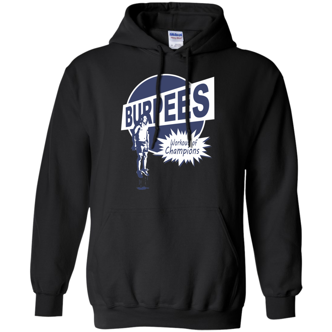 Burpees T-Shirts Hoodies Burpees Workout Of Champions - Blue Fox