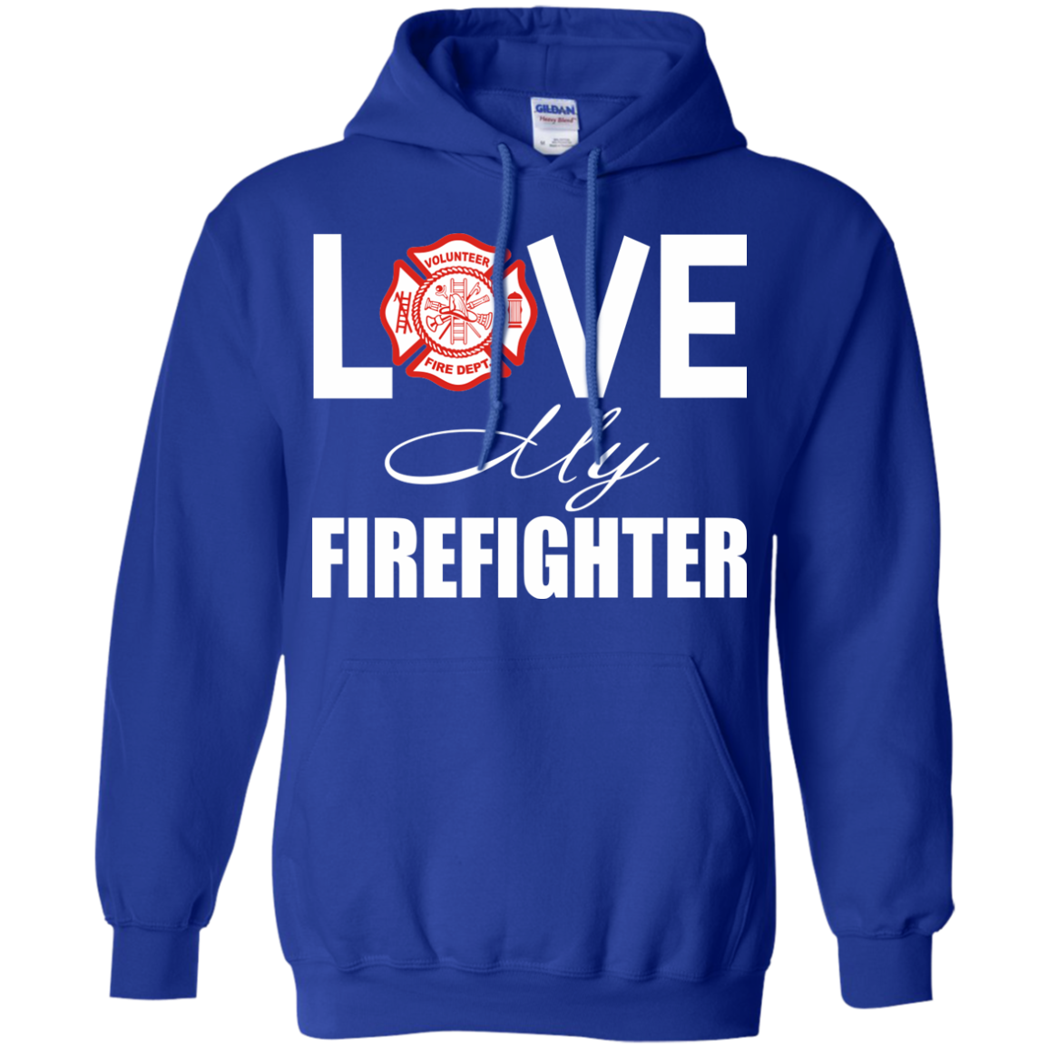 Firefighter T-Shirts Hoodies Love My Firefighter - Blue Fox