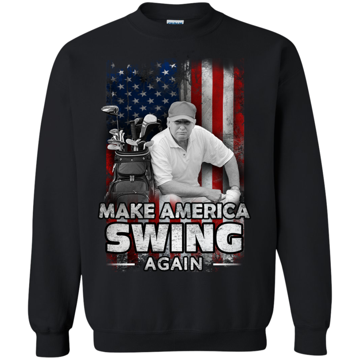 Make America Swing Again President Donald Trump Golf T shirts Hoodies For Men And Women