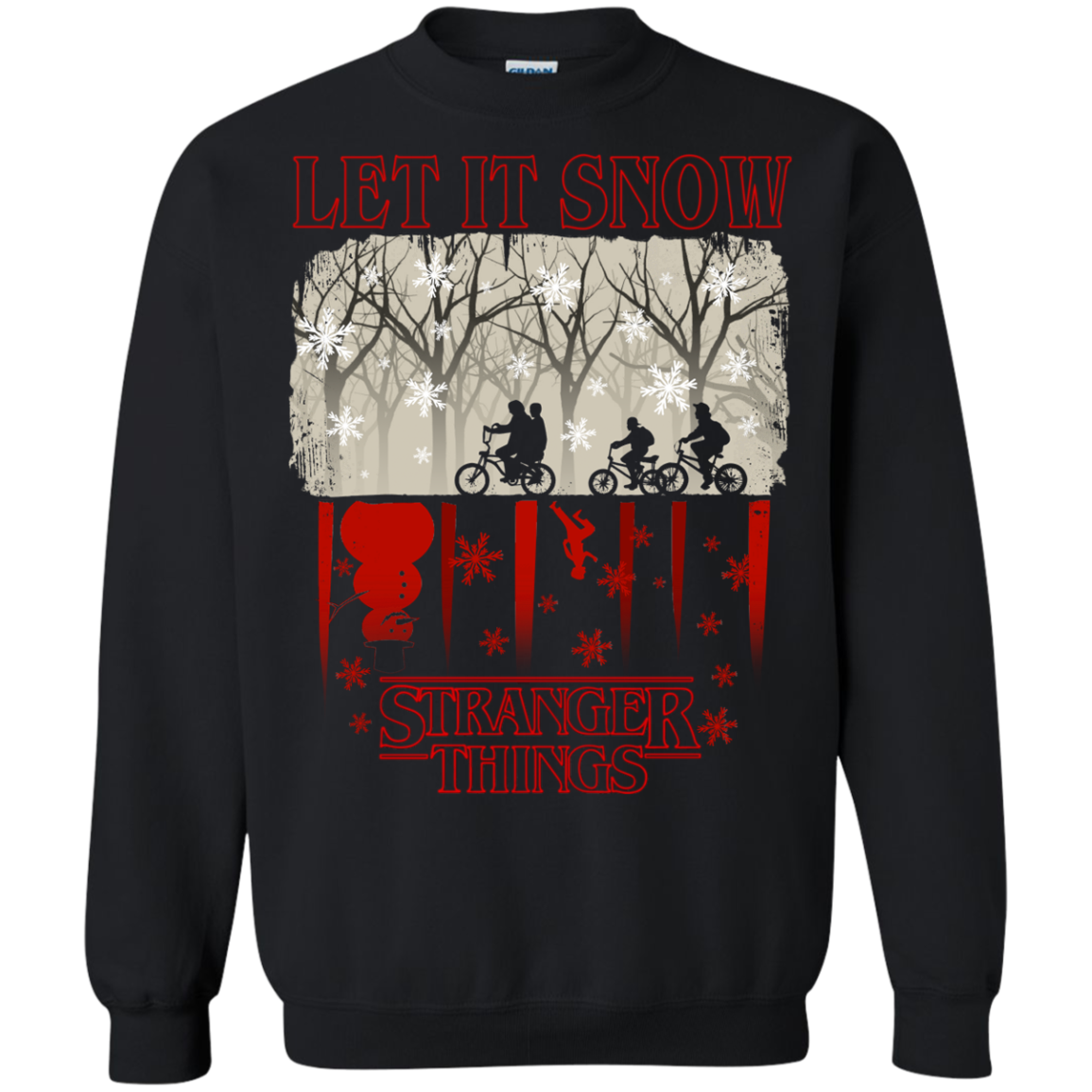 Stranger Things Christmas Let It Snow T shirts Hoodies - Blue Fox