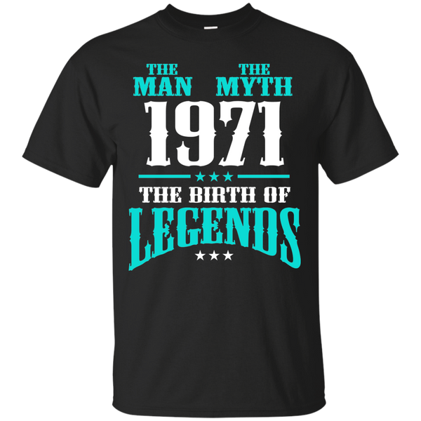 1971 Shirts The Man The Myth The Birth of Legends T-shirts Hoodies Sweatshirts - Blue Fox