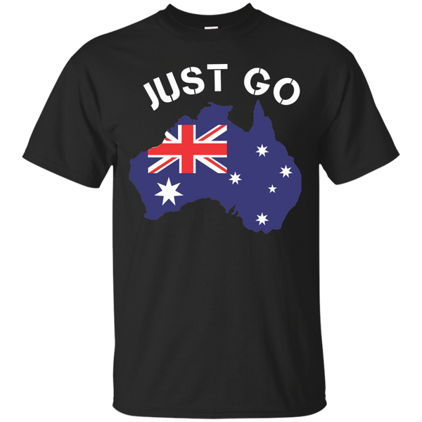 Australia T-Shirts Hoodies Just Go Australia - Blue Fox