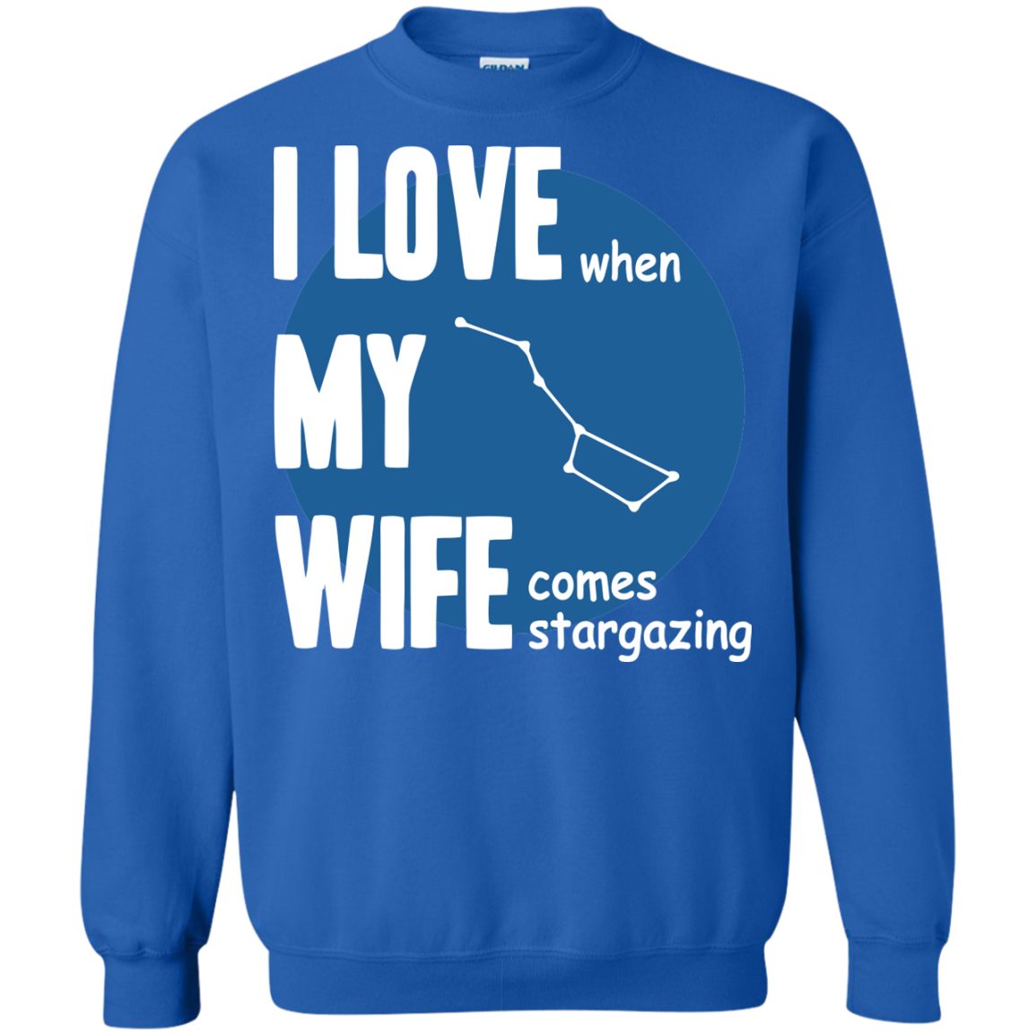 Astronomer T-Shirts Hoodies I Love When  My Wife Come Stargazing - Blue Fox