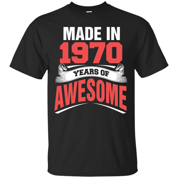 1970 Shirts Made in 1970 Year of Awesome T-shirts Hoodies Sweatshirts - Blue Fox