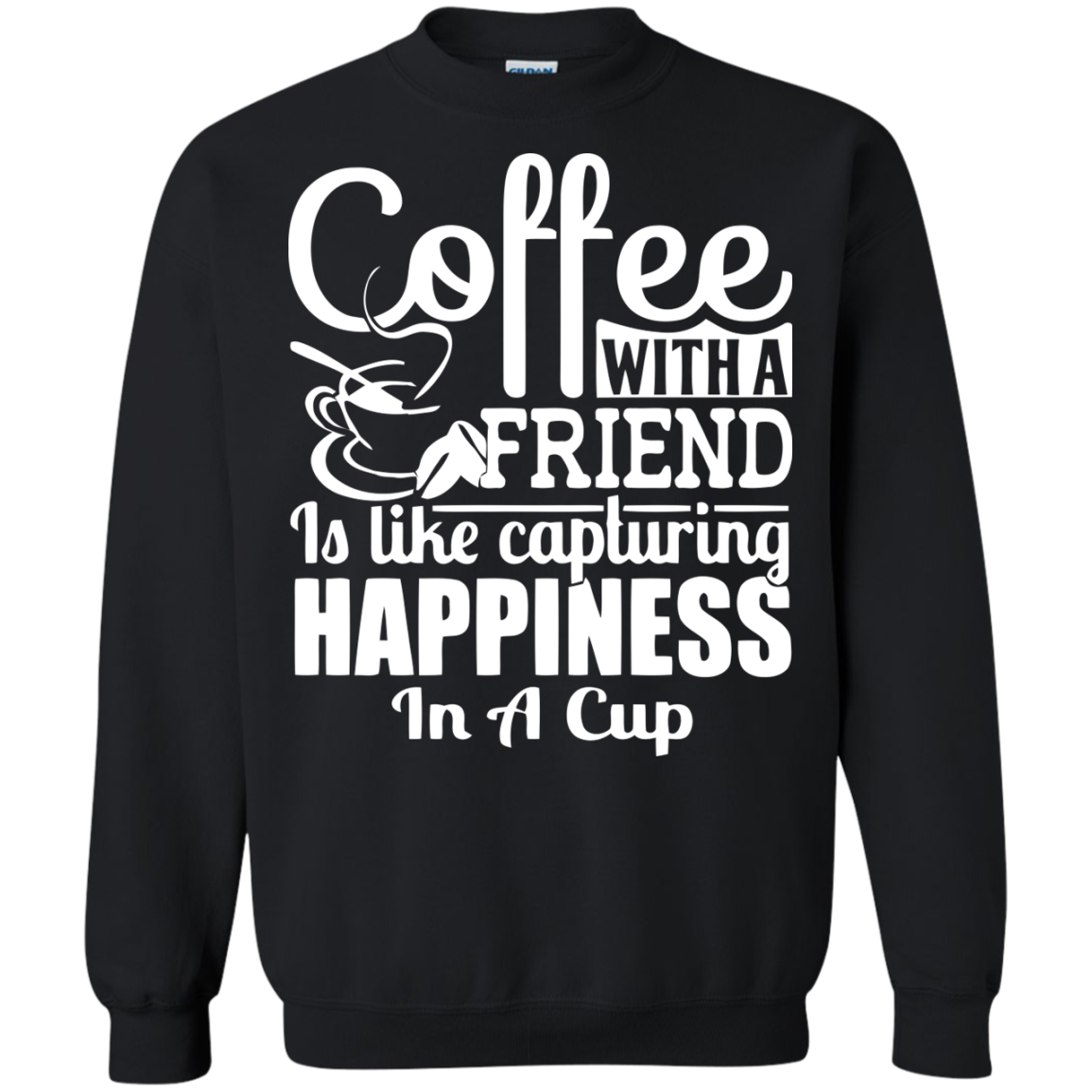 Coffee T-Shirts Hoodies Coffee With Friend Like Capturing Happiness - Blue Fox