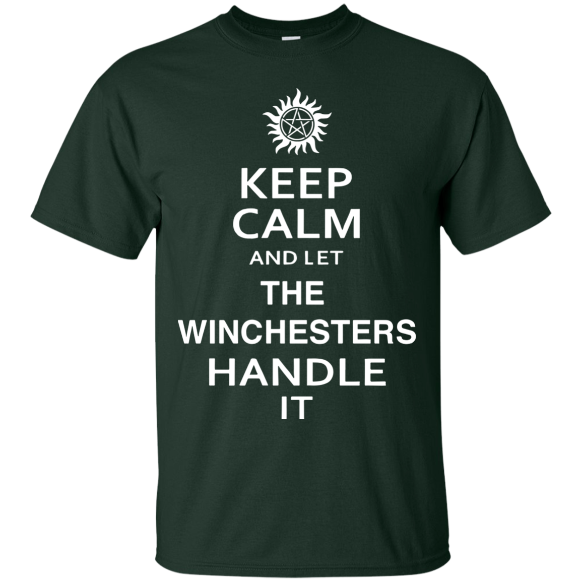 Keep Calm Let The Winchester Handle It Supernatural T shirts Hoodies - Blue Fox