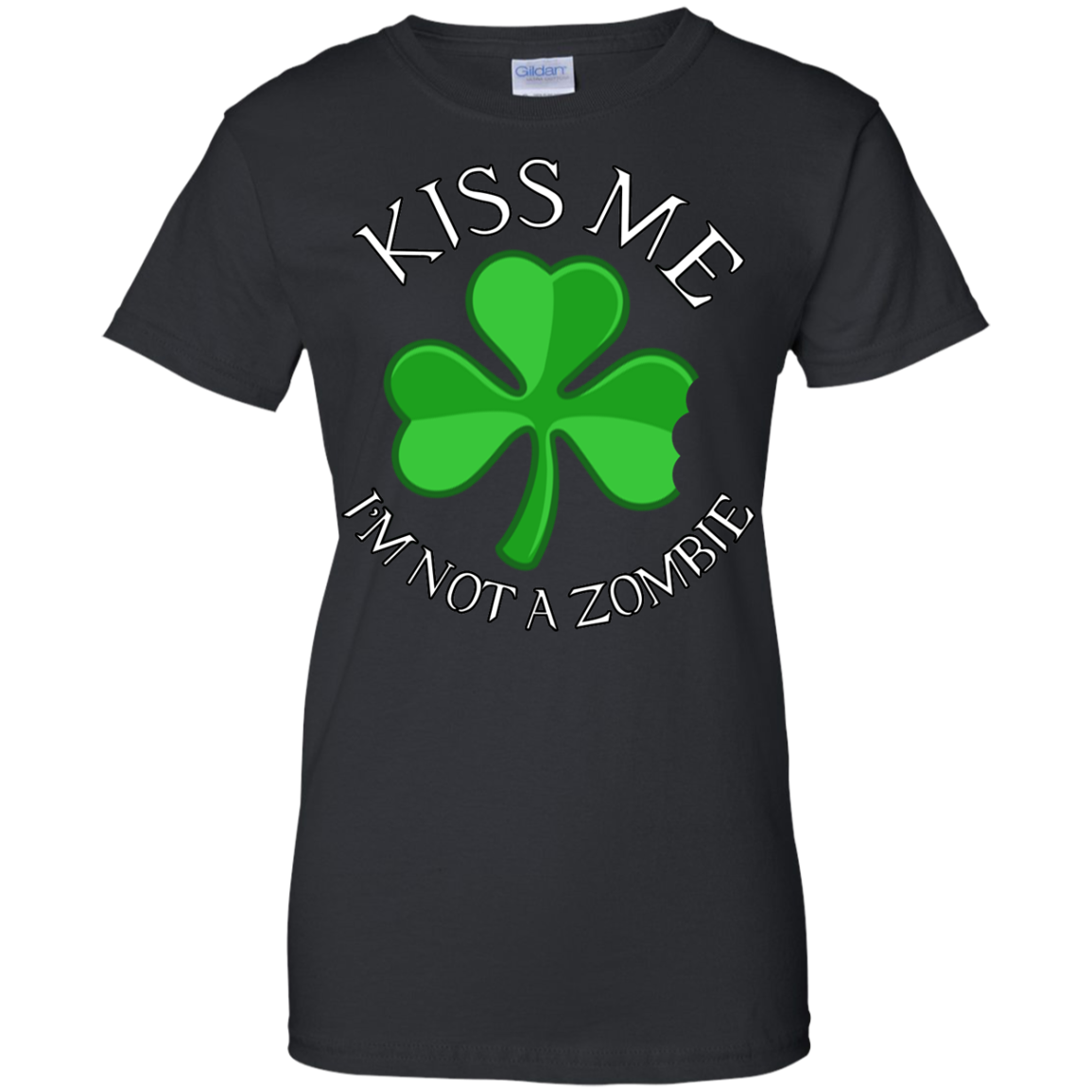 Kiss Me I Am NOT A Zombie Irish St Patricks Day Clothing St Patrick's Day Shirts Hoodies For Women And Men - Blue Fox