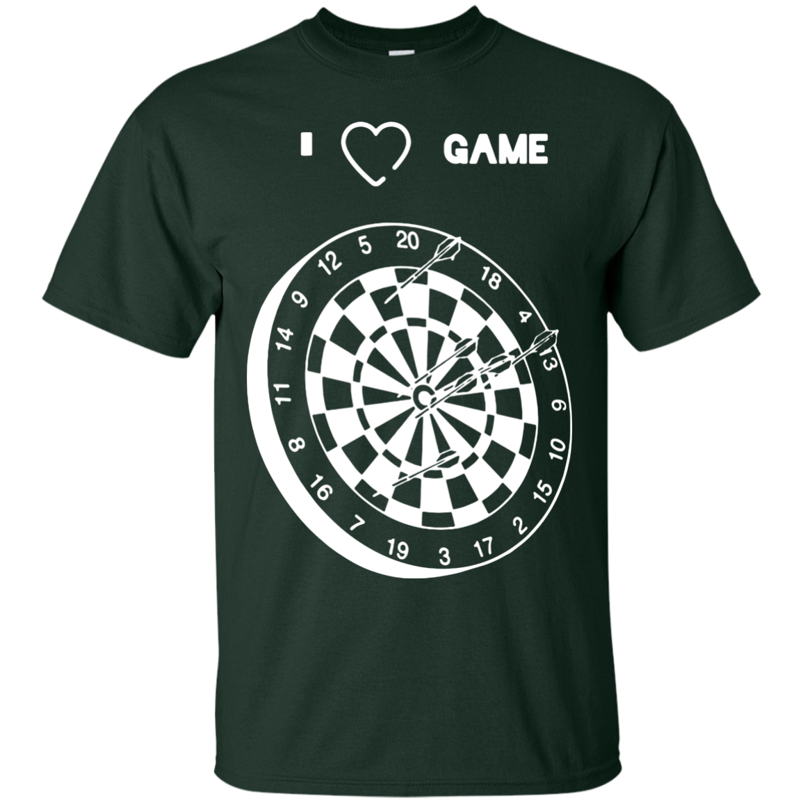 Dart game T-Shirts Hoodies I Love Dart game - Blue Fox