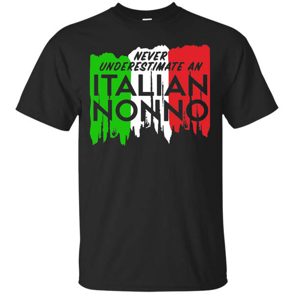 Family T-Shirts Hoodies Never Underestimate an Italian Nonno - Blue Fox