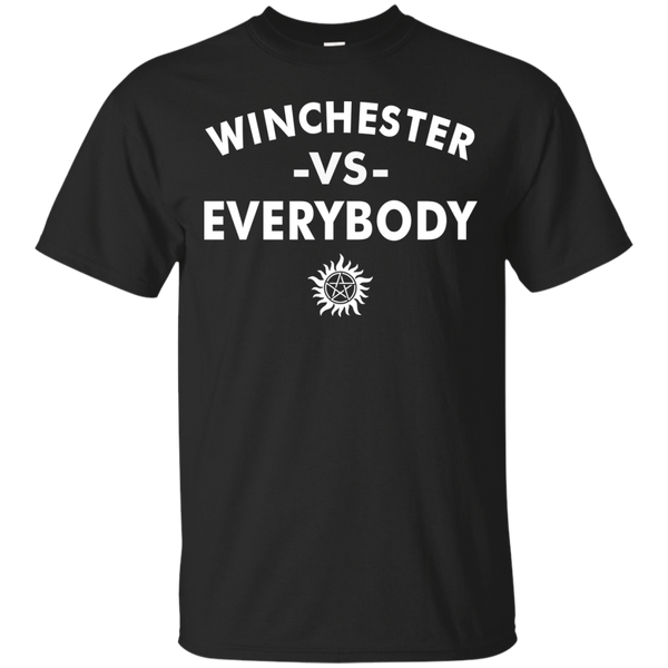 Supernatural Shirts Winchester Vs Everybody T shirts Hoodies Sweatshirts - Blue Fox