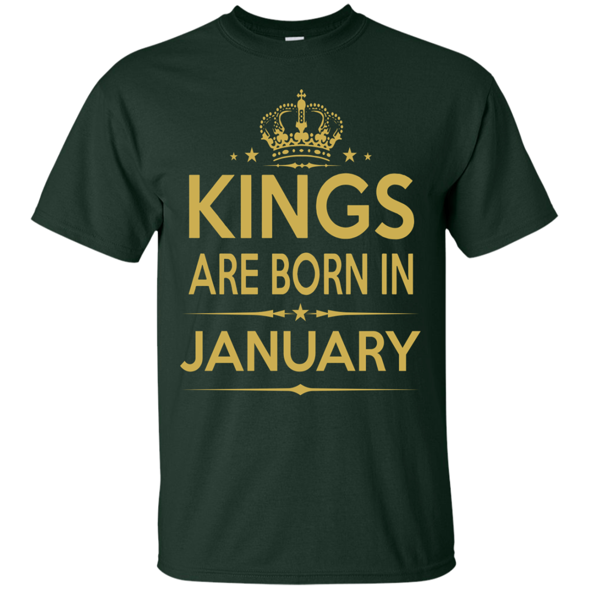 Kings Are Born In January Birthday T Shirts Hoodies - Blue Fox