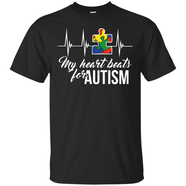 Autism Awareness T-shirts My Heart Beats For Autism Shirts Hoodies Sweatshirts