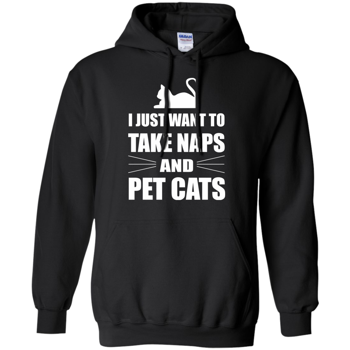Cat Lover T-Shirts Hoodies I Just Want To Take Naps And Pet Cats - Blue Fox