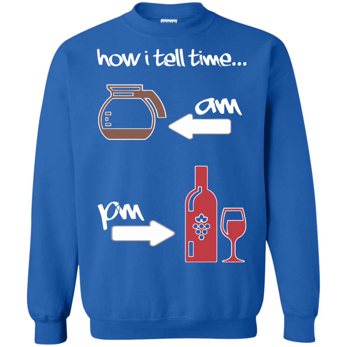 Coffee And Wine T-Shirts Hoodies How I Tell Time Coffee And Wine - Blue Fox