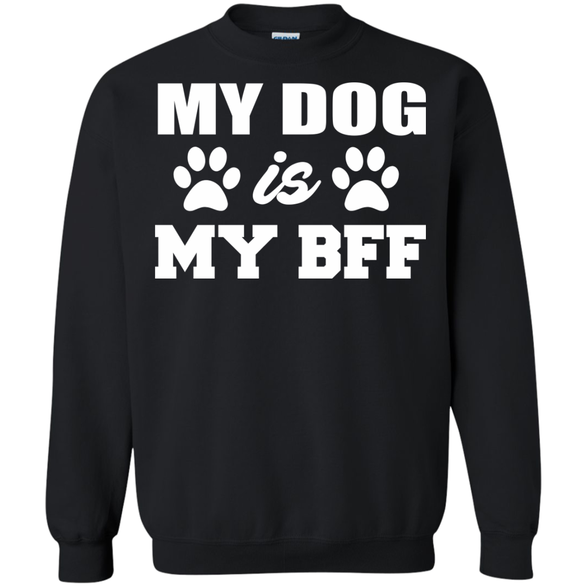 Dog Lover T-Shirts Hoodies My Dog Is My BFF - Blue Fox