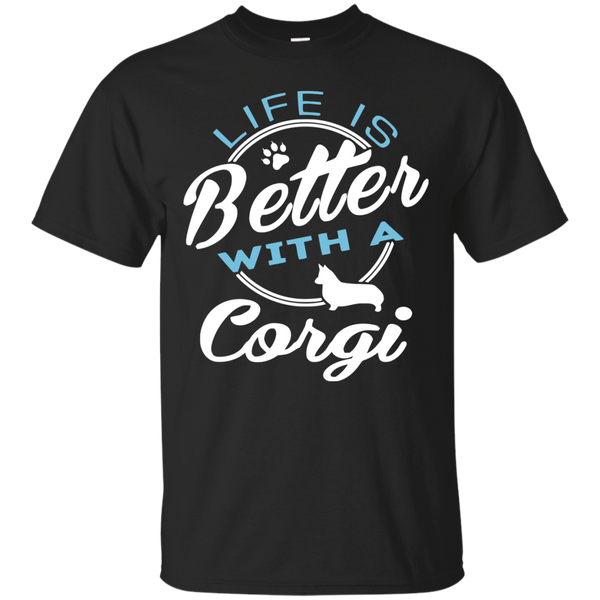 Corgi T-Shirts Hoodies Life's Better With Corgi - Blue Fox