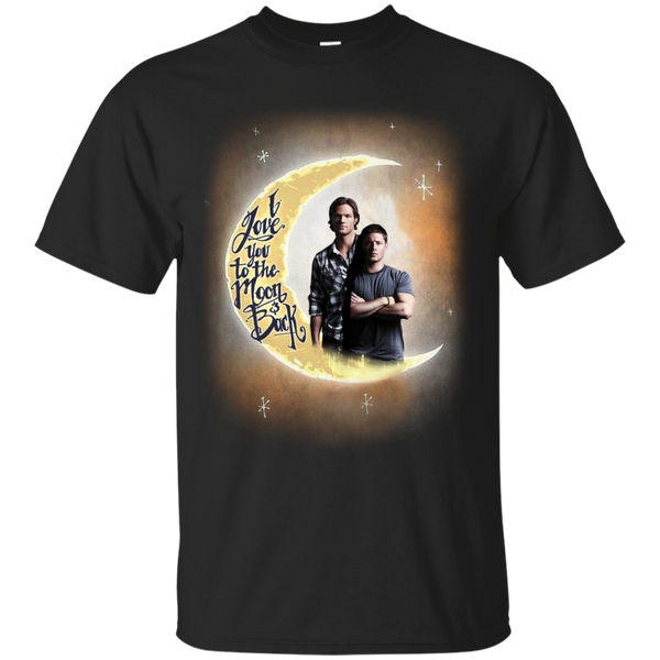 Supernatural Dean And Sam Shirts Winchester I Love You To The Moon And Back T shirts Hoodies Sweatshirts - Blue Fox